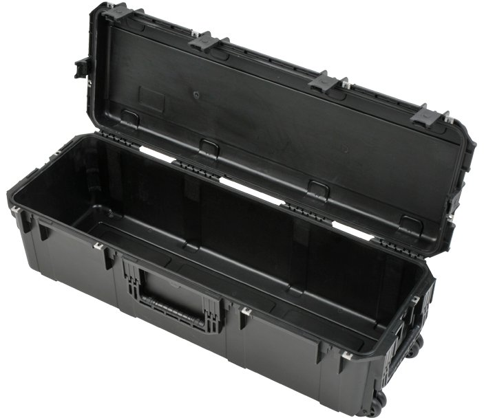 iSeries Large Empty Drum Hardware Case with Handle, Wheels, and Lock