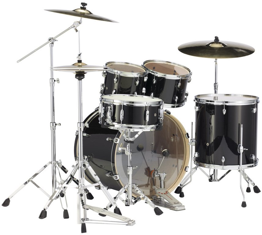 pearl drums exl725 248 5 piece drum kit in black smoke lacquer finish with 830 series hardware. Black Bedroom Furniture Sets. Home Design Ideas