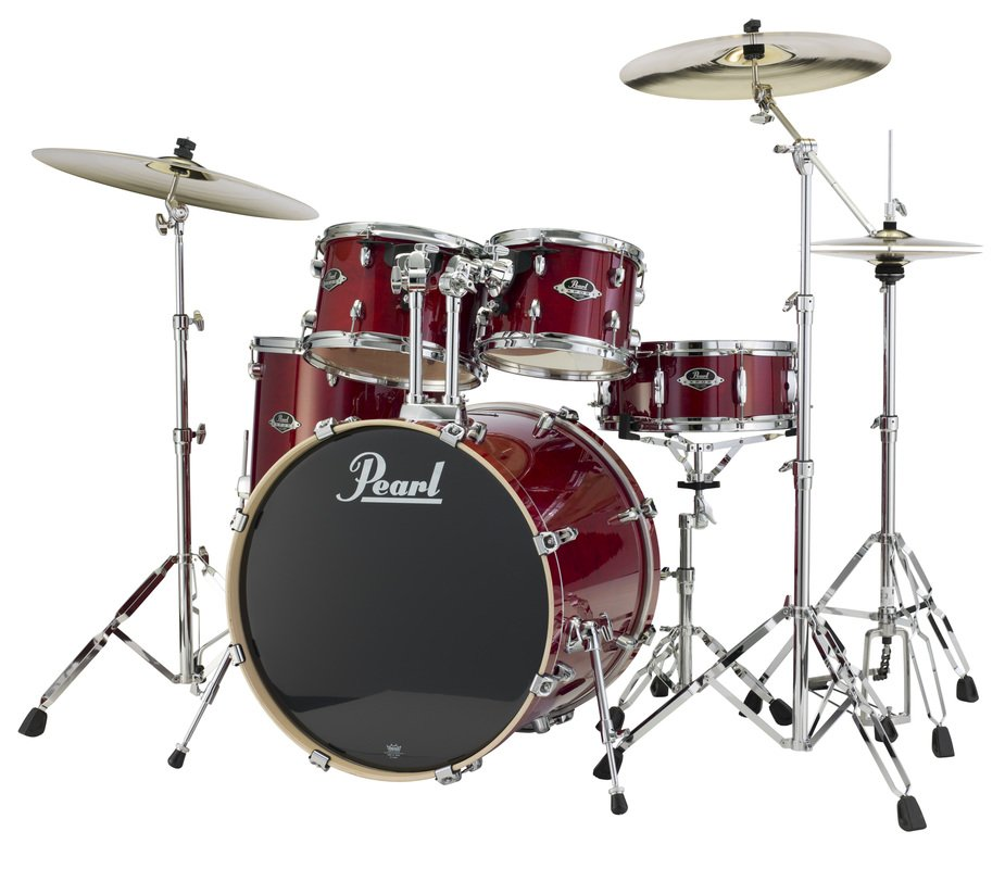 Pearl Drums EXL725-246 5 Piece Drum Kit in Natural Cherry Lacquer Finish with 830 Series Hardware EXL725-246