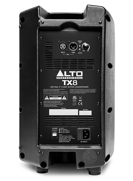 "Alto Professional TX8 8"" 2-Way 280W Peak Active Loudspeaker TX8-ALTO"