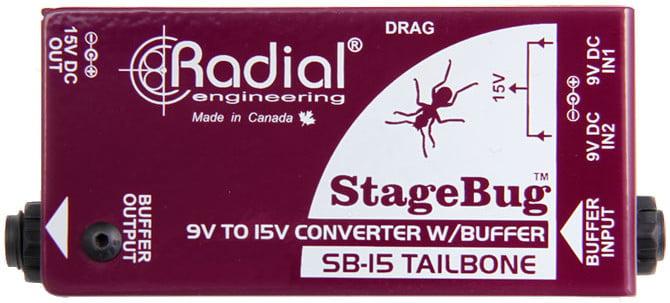 Radial Engineering StageBug SB-15 Tailbone High Performance Signal Buffer and Power Converter SB15-TAILBONE