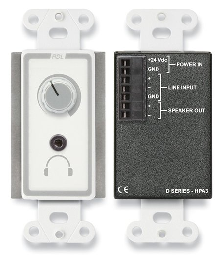 3.5W Single-Gang Wall-Mounted Audio Power and Headphone Amplifier