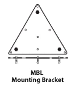 Soundsphere Loudspeakers MBL  Large Flat Surface Mounting Bracket for Q-12A Speaker MBL