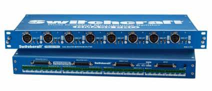 Switchcraft RMAS8PRO  8 Input 3-Way Split Dual Isolated Microphone Splitter with Jensen Transformers RMAS8PRO