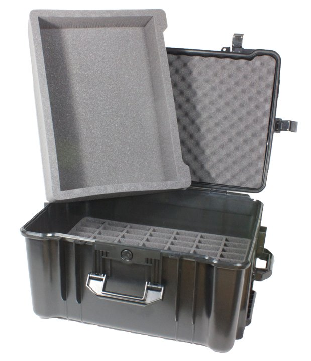 70 Slot Heavy Duty Carry Case with Large Tray for DigiWave Systems