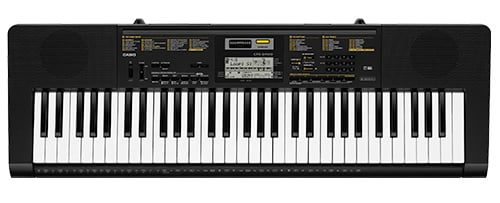 61 Key Keyboard with 400 Voices, 48 Note Polyphony and Built-In Microphone