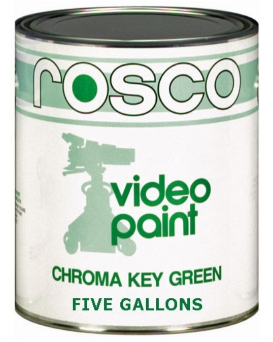 5 Gallons of Chroma Key Green Paint
