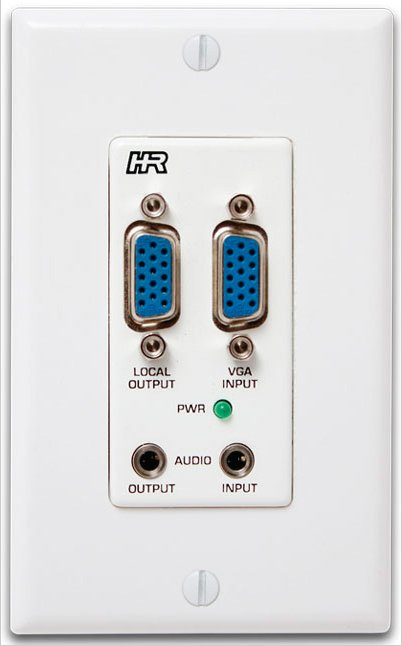 Hall Research VGA/Component & 3.5mm Audio Input Decora Wall Plate for VSA Systems