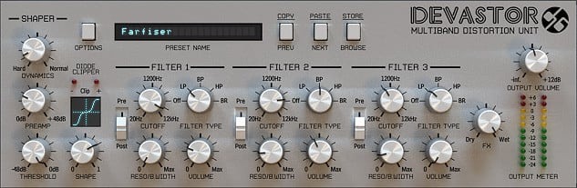 Multi-Band Distortion Software Plugin