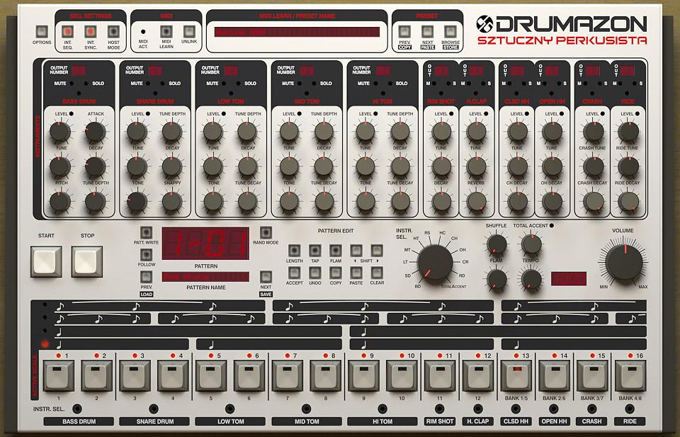 TR-909 Emulation Software Plugin