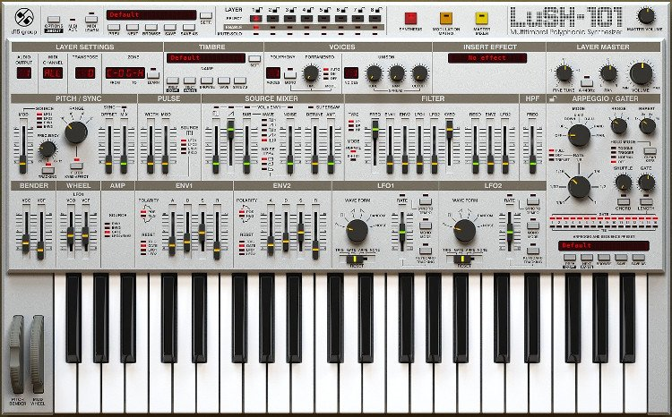 Polyphonic Synthesizer Software Instrument Plugin