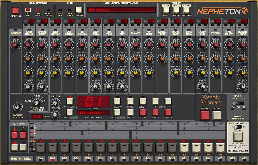 TR-808 Emulation Software Instrument Plugin