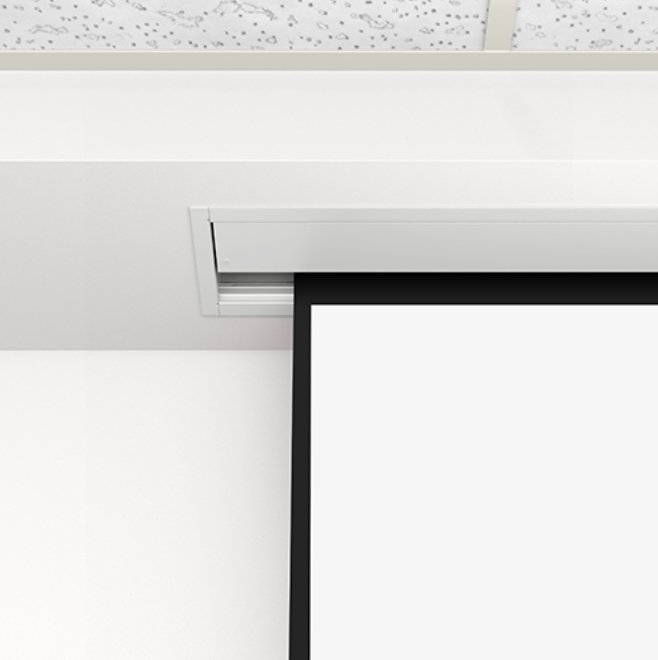 """133"""" 16:9 HDTV Format Advantage Electrol Ceiling Recessed Electric Screen"""