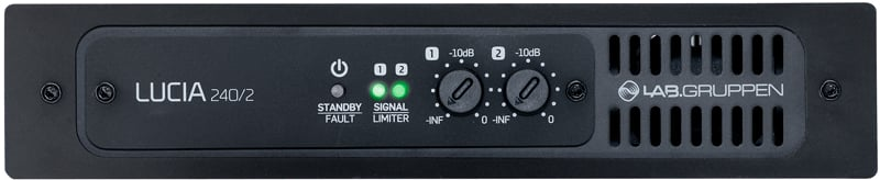 2 x 120W Commercial Power Amplifier with DSP and 4x4 Mix Matrix