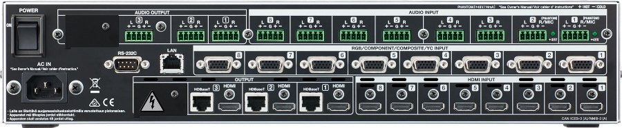 8-in x 3-out Multi-Format AV Matrix Switcher