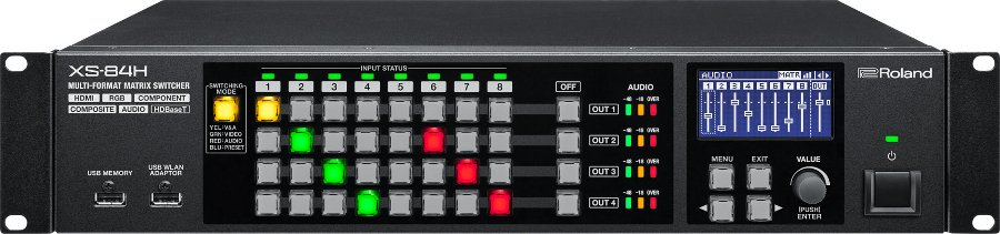 8-in x 4-out Multi-Format AV Matrix Switcher