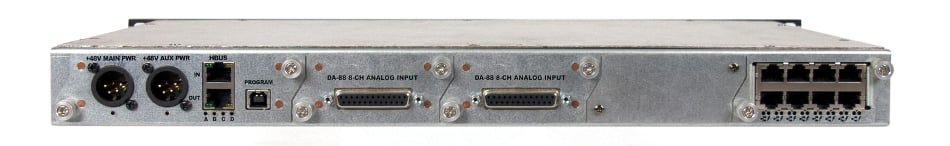 Hear Back PRO Standard Hub with Network Card and (2) 8-Channel Analog Input Cards