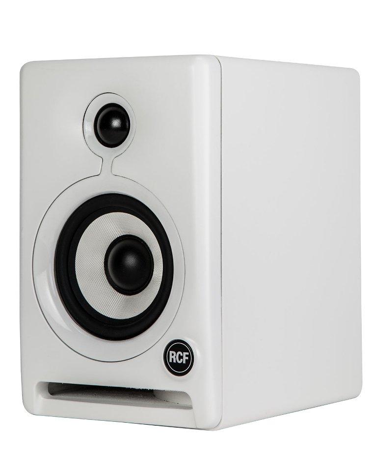 "Pair of 4"" 2-Way Active Studio Monitors in White"