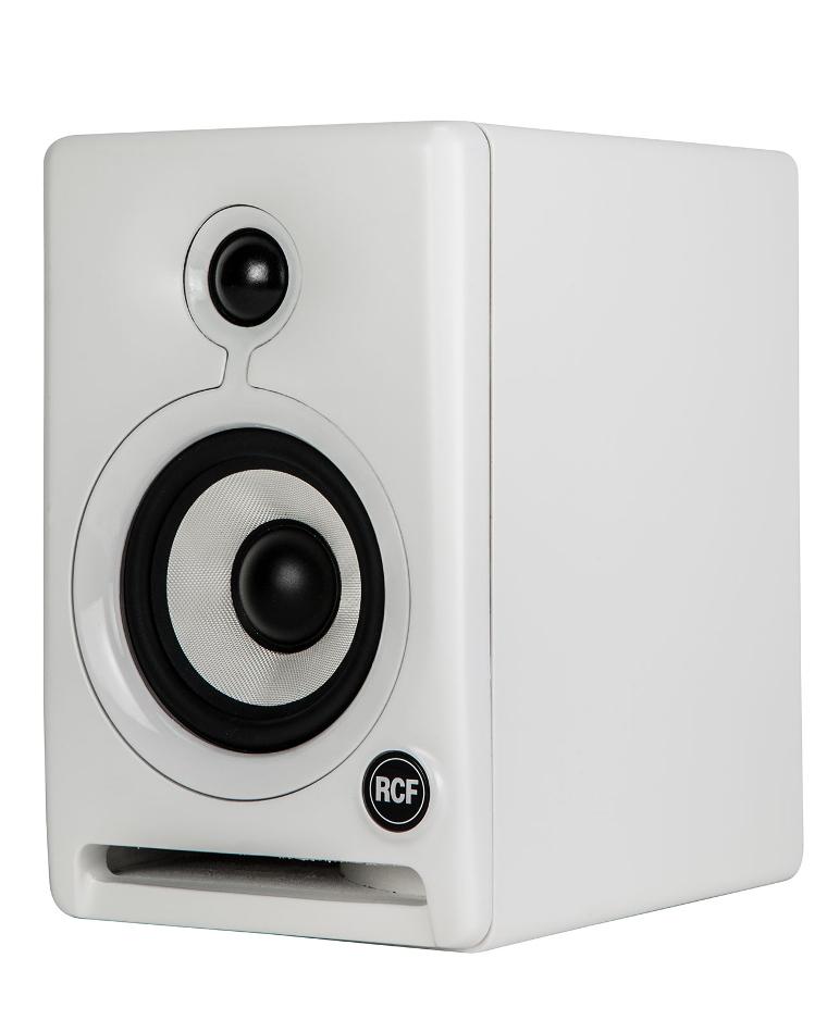 "Pair of 4"" 2-Way Active Studio Monitors in White"