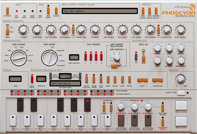 TB-303 Emulation Software Instrument Plugin