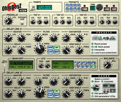 OHM Force Ohmboyz Multi-Tap Delay Software Plugin OHMBOYZ