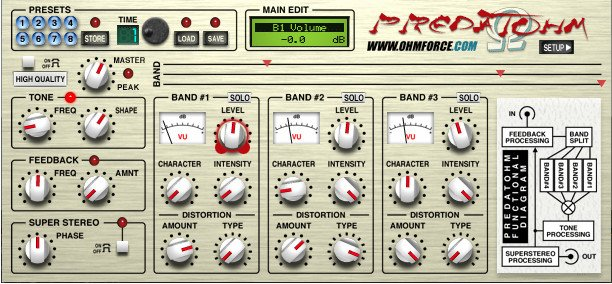 3-Band Overdrive Software Plugin