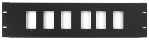 3RU Rack Panel for 6 Decora Devices