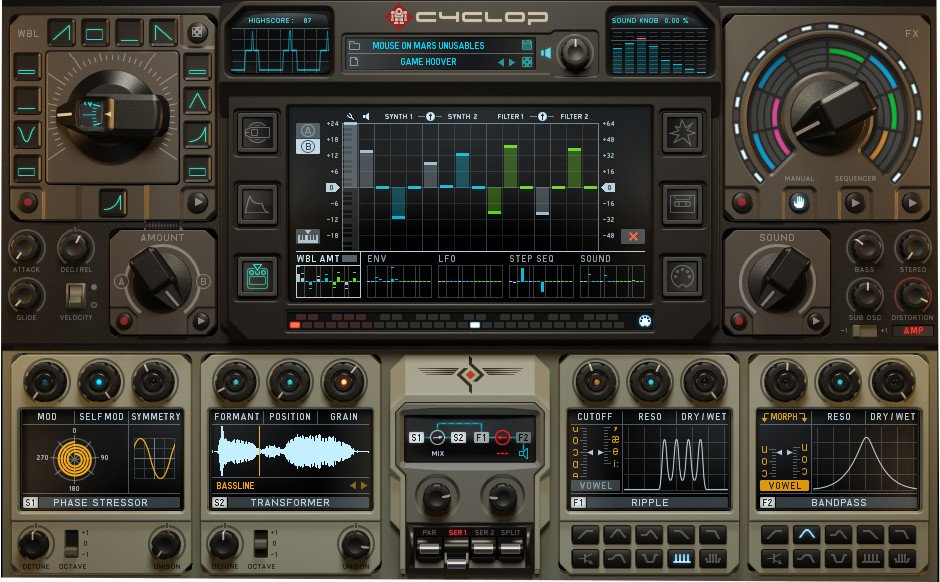 Sugar Bytes Cyclop Bass Synthesizer Software Instrument Plugin CYCLOP