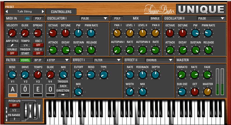 Vowel Synthesizer Software Instrument Plugin
