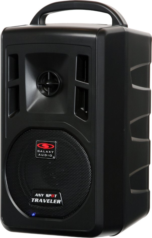 """Portable Battery Powered PA System with 5"""" Woofer, Bluetooth & 2 Wireless Microphone Receivers"""