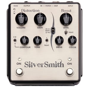 egnater custom amps silversmith high gain distortion pedal with boost full compass. Black Bedroom Furniture Sets. Home Design Ideas