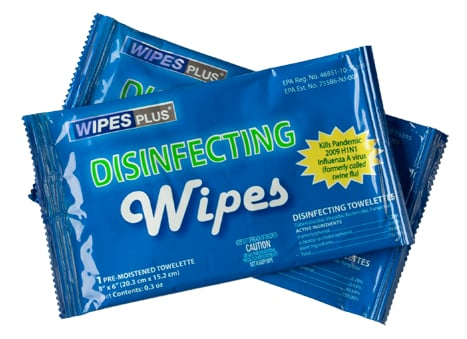 Pack of 20 Individually Wrapped Disinfecting Wipes