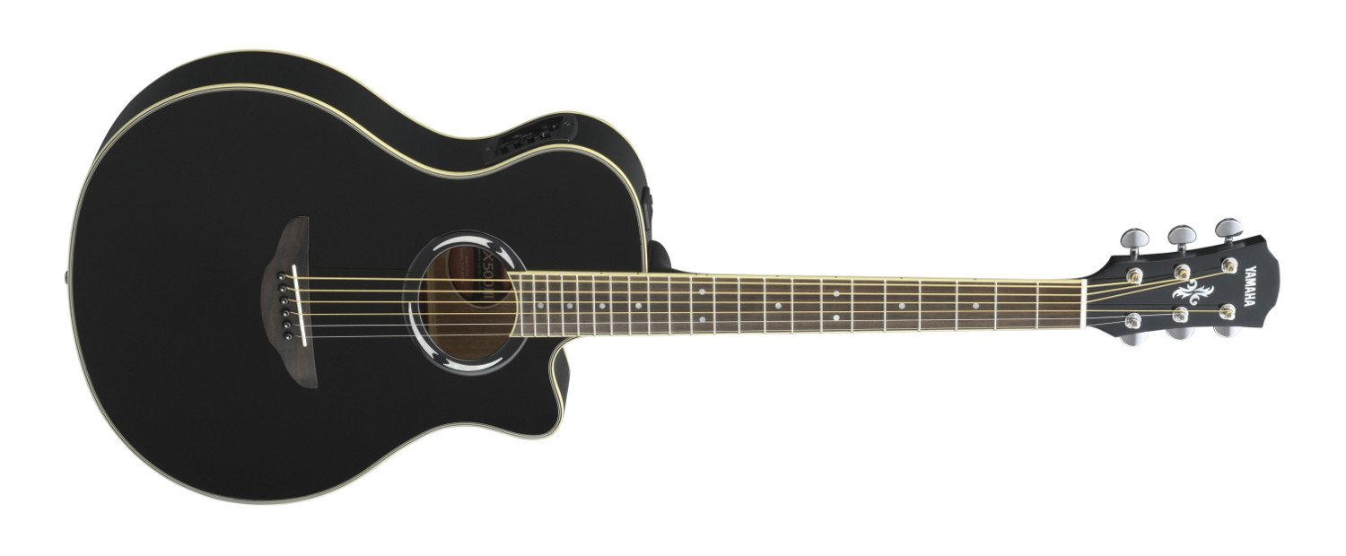 Black Acoustic/Electric Guitar with System 66 Electronics