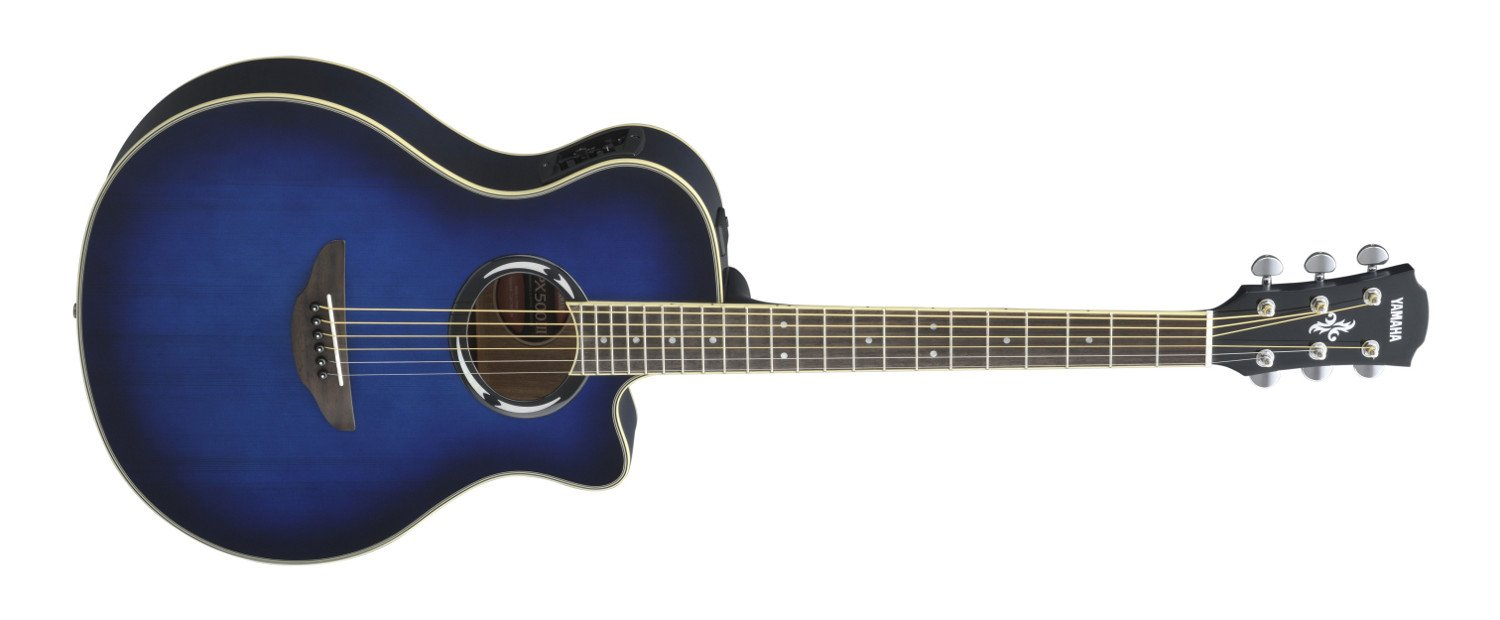 Oriental Blue Burst Acoustic/Electric Guitar with System 66 Electronics