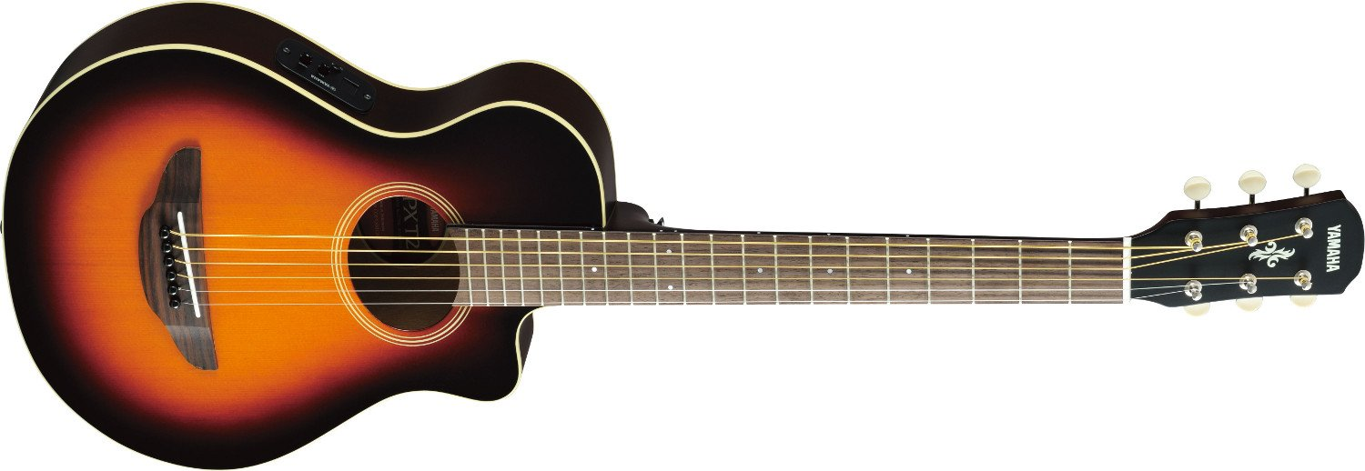 Old Violin Sunburst 3/4-Sized Acoustic/Electric Travel Guitar with System 68 Preamp