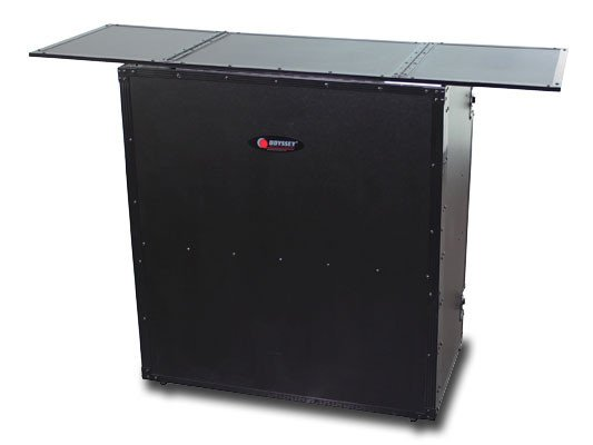 "54""W x 37""H Black Label Fold-Out DJ Table Stand"
