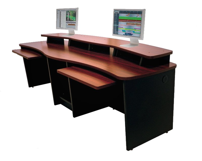 Two-Person Workstation Console with 20 Total Rack Spaces