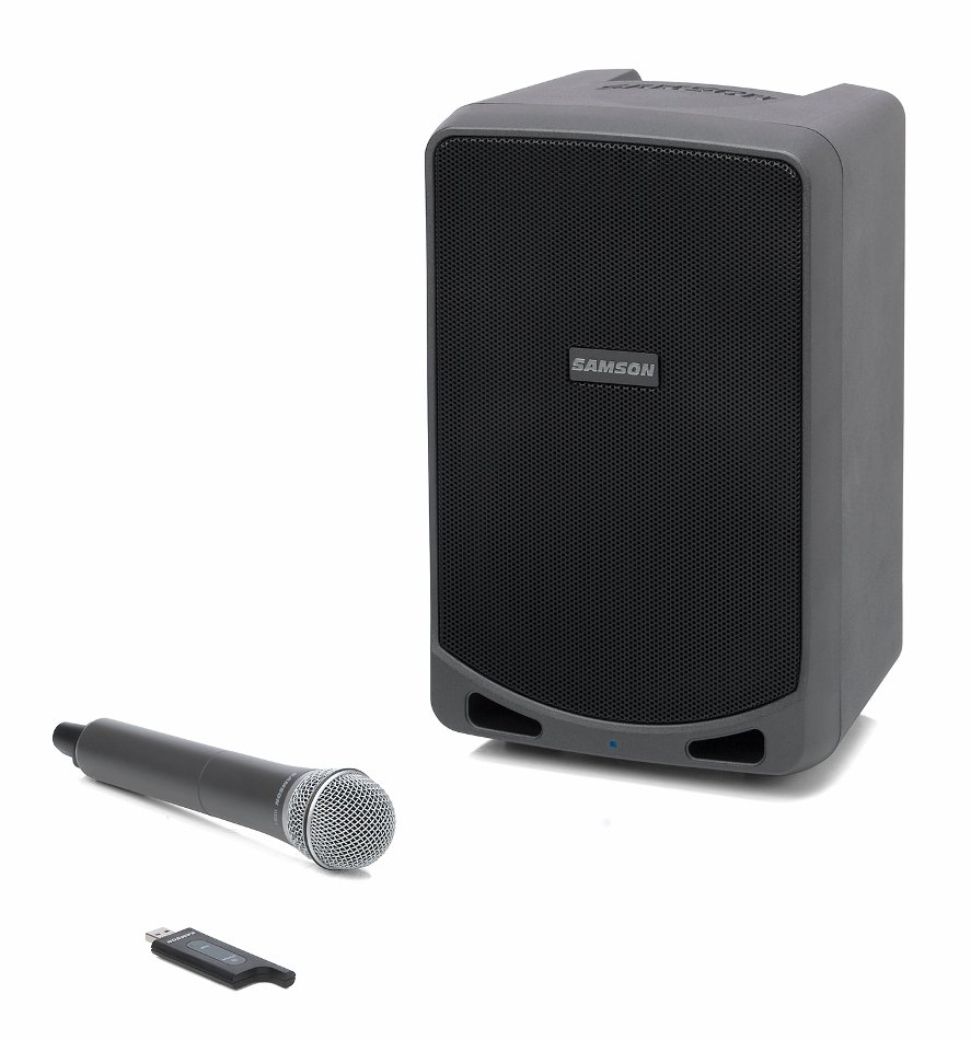 Rechargeable Portable PA System with Handheld Wireless Microphone and Bluetooth