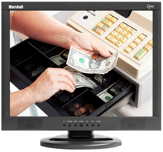 """19"""" LCD Monitor with Ceiling Mount"""