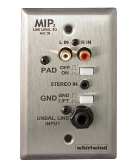 Stainless Steel Media Input Wall Plate