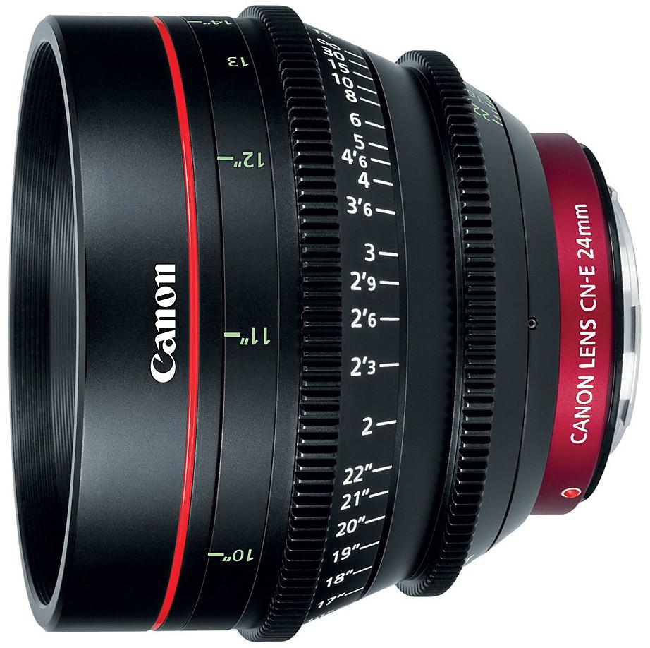 Canon 6569B001 Cinema Prime CN-E24mm T1.5 L F EF Mount Lens 6569B001