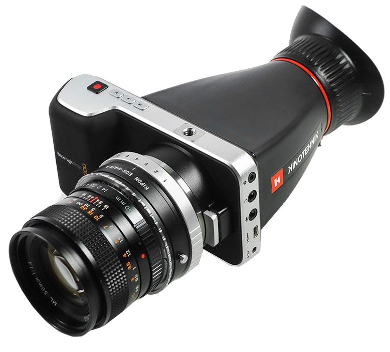 Viewfinder Enlarger for Blackmagic Design Pocket Cinema Camera