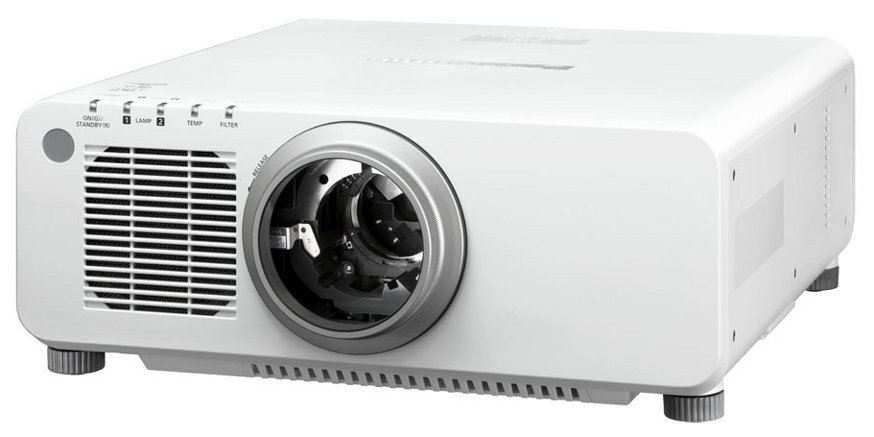 8500 Lumens WXGA DLP Large Venue Projector in White without Lens