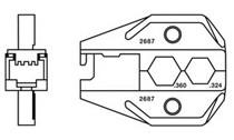 RJ45 WE/SS & RG6/RC6 CATV F Connector Die
