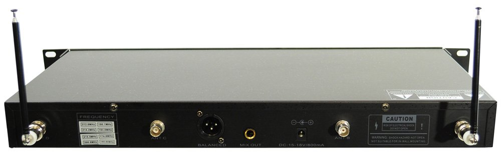 8 Handheld Microphone VHF Wireless System