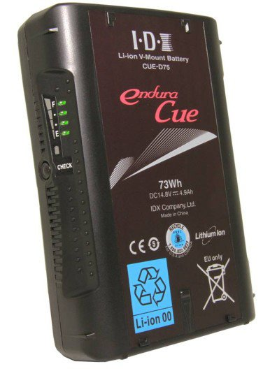 IDX Technology CUE-D75 73Wh V-Mount Li-Ion Battery CUE-D75