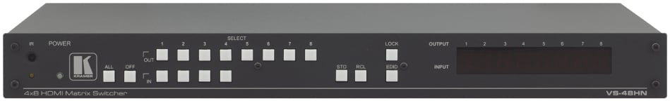 1RU HDMI 4 x 8 Matrix Switcher