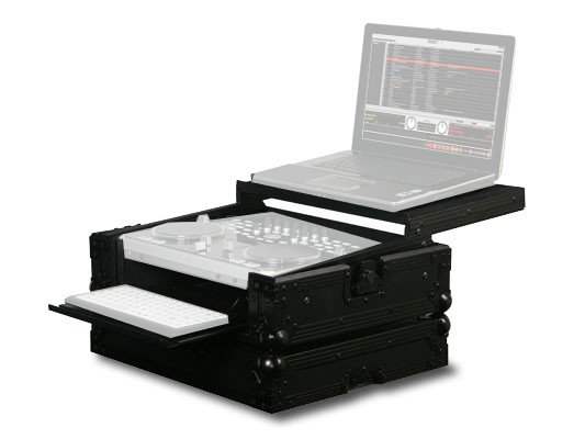 Black Label Glide Style DJ MIDI Controller Case with Keyboard Tray for Vestax VCI-300