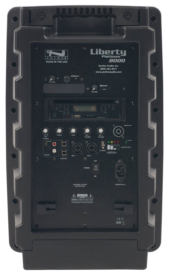 Liberty Platinum Portable PA System with Onboard Bluetooth, CD/MP3 Combo Player and (1) 16-Channel UHF Wireless Receiver