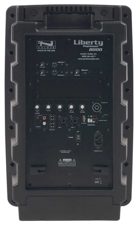 Liberty Platinum Portable PA System with Onboard Bluetooth, (2) 16-Channel UHF Receivers and Rechargable Battery